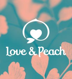 株式会社CHOICEの制作実績_Love&Peachロゴ